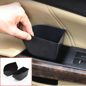 FOR Honda Accord 8th 2008-2012 ABS black Car door storage box cover trim 2pcs
