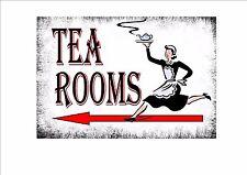 stile retrò vintage tè NEGOZIO INSEGNA PUBBLICITARIA per porta, Tea Rooms