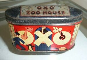 Vintage 1930s OXO Zoo House Tin - Very Collectable Tin - Great Condition!