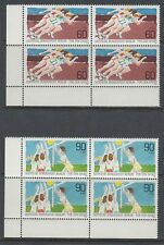 Germany Berlin 1982 ** Mi.664/65 Bl/4 Sport Volleyball Marathon [da237]