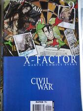 X-FACTOR A Marvel Comics Event CIVIL WAR n°9 2006 ed. Marvel Comics  [SA3]