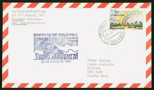 Mayfairstamps Colombia Flight 1985 Bogota to San Juan PR Marandua Cover wwr_0136