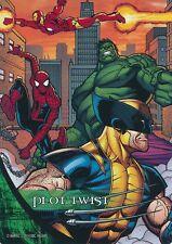 SPIDER-MAN/WOLVERINE/HULK/IRON MAN Upper Deck Marvel Legendary PLOT TWIST