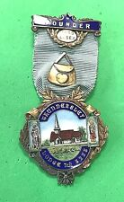 SILVER FOUNDERS' JEWEL - THUNDERSLEY LODGE No.5225 - 1930 - masonic