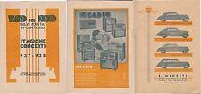TEATRO DEL POPOLO - STAGIONE CONCERTI 1937 - + RARA PUBBLICITA - LANCIA -IRRADIO
