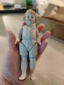 """VINTAGE Shackman Porcelain Jointed Doll Vintage 6.5"""" Japan Original Box"""
