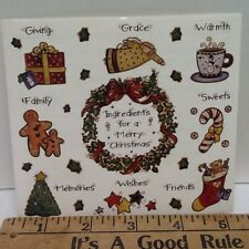 Christmas Gifts Family Stockings Gingerbread SCRAPBOOKING Stickers by Joy Marie