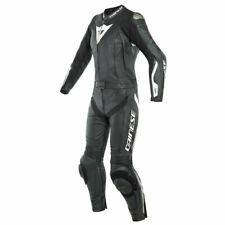 Dainese Avro D-Air Ladies Motorcycle Two Piece Leather Suit Black/ White