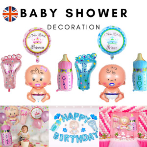 4Pcs Its a Boy Girl Balloons Foil Baby Shower Decorations Gender Reveal Party