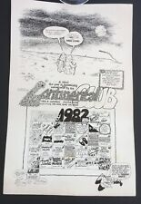 Continental Club Calendar poster Jan. 1982 Stevie Ray Vaughan & Double Trouble