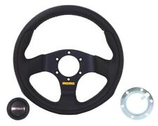 MK2 GOLF Momo Team 280mm Steering Wheel, Black with Black Centre - WC400MO280TEA