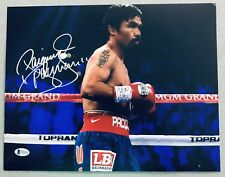 Manny Pacquiao Signed PACMAN Boxing Auto 11x14 Autograph Photo #2 (Beckett BAS)