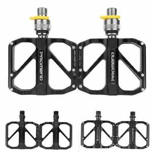 "Folding Bicycle Pedal Quick Release MTB Road Bike Pedals 3 Bearing 9/16"" PROMEND"