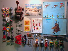 Playmobil VINTAGE Lot of 80+ Knights Parts/Figures/Catalog/Instructions/Decals!!
