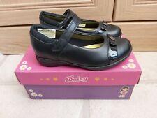 Lovely Girls Brand New Clarks Black Leather School Shoes Size 11G Daisy locket
