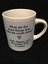 Three Things That Make Life Worth Living God Sisters Cookies Coffee Mug w/Box