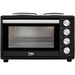 Beko MSH28B 28L Mini Oven with Twin Hobs - Black