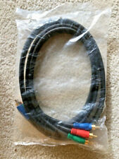 New listing 6' Foot 3-Rca Ypbpr Rgb Male To Male Component Video Cable Rg-6/U 18Awg Dvd -New