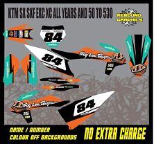 Kit De Gráficos KTM 1999-2019 Motocross MX SX SXF EXC Calcomanías Pegatinas XC Tld