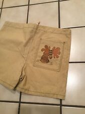 Vintage 50s 60s Rockabilly Surf Beach Moose Deer Canvas Art Board Shorts