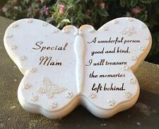 Memorial For Special Mam Butterfly Shaped Grave Ornament Funeral Ornament