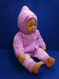 """HAND KNITTED CLOTHES FOR BABY ANNABEL CHOU CHOU  SIMILAR 16""""- 8"""" REBORN DOLL (l"""