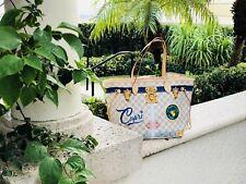 NEW CAPRI Louis Vuitton Summer Trunks Damier Azur NEVERFULL Bag Tote AUTHENTIC