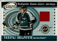02 Pacific Atomic Teemu Selanne Jersey San Jose Sharks Winnipeg Jets SP Rare NHL