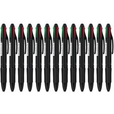 4pcs/lot Novelty Plastic Ballpoint Pen Red Blue Green Black Ink Pens 4 In 1 Pens