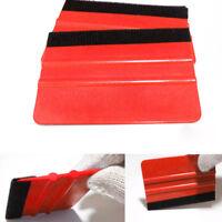 Plastic Felt Edge Squeegee Car Vinyl Wrap Application Tool Scraper Decal Red