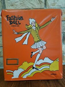 1970s Barbie Miner Fashion Doll wardrobe Orange Case