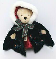 "Muffy VanderBear Bear ""A Christmas Carol"" Bearly in Tune Velvet Hooded Cape 1996"
