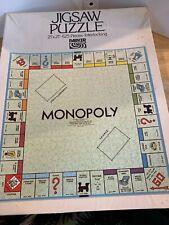 "Vintage Monopoly Jigsaw Puzzle Parker Brothers 21""x21"" 625 Pieces Complete"