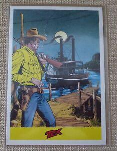 Tex cartolina firmata Claudio Villa con annullo e francobollo Corto Maltese 2007