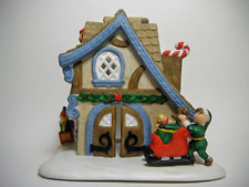 Christmas Ceramic Candle Holder (Collectible Ceramic House, Porcelain Christmas)
