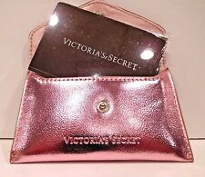 VICTORIA'S SECRET ROSE GOLD MAGIC IN THE AIR COSMETIC MIRROR AND POUCH NEW!