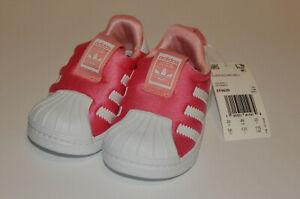 Adidas Originals Infant Superstar 360 Glopink Slip On Shoes Size 5K NWOB