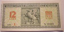 BIGLIETTO DELLA GRANDE LOTTERIA IPPICA NAZIONALE DI MERANO 1938 - 19/1/18