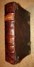 1683-KJV Bible-Large Folio-With Geneva Notes/Arguments-2 Titles-Psalms in Metre