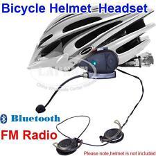 Motorcycle Bicycle Bike Helmet Bluetooth Headsets FM Radio Speakers F MP3 GPS UK