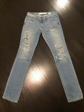 New Abercrombie & Fitch Womens Sz 4 27W Destroyed Glitter Embellished Jeans