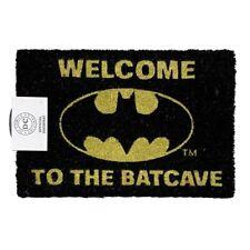 DC COMICS BATMAN 'WELCOME TO THE BATCAVE' COIR DOOR MAT - OFFICIAL LICENSED *NEW