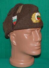 Bulgarian Army MAJOR Officer WINTER WOOL FRIEZE Uniform CAP w/t Badge