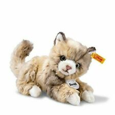 Steiff 099663 Lucy Cat Plush Animal Toy Spotted Brown Ship