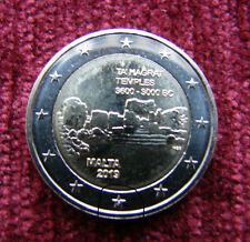 Malta 2 Euro Coin -Ta Hagrat Temples 2019 UNC mint F