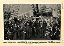 Herzog der Abruzzen schenkt in Spezia die Stella Polare italienische Marine1901