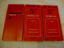 lot 3 GUIDE MICHELIN BENELUX 1965 - 1966 ET 1971