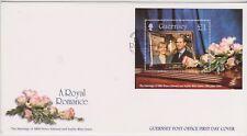 GB - GUERNSEY 1999 A Royal Romance Edward & Sophie £1 Sheet SG MS837 FDC ROYALTY