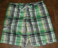 Men's OLD NAVY Swimwear Plaid BOARD SHORTS Size XL X-Large Swimming Trunks Lined