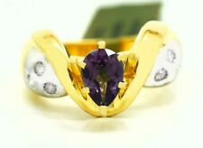 ALEXANDRITE 0.93 Cts & GENUINE DIAMONDS RING 10K GOLD** Made in USA **
